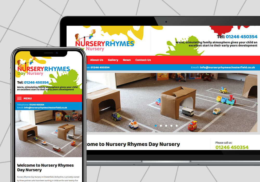 cms web design example nursery rhymes day nursery