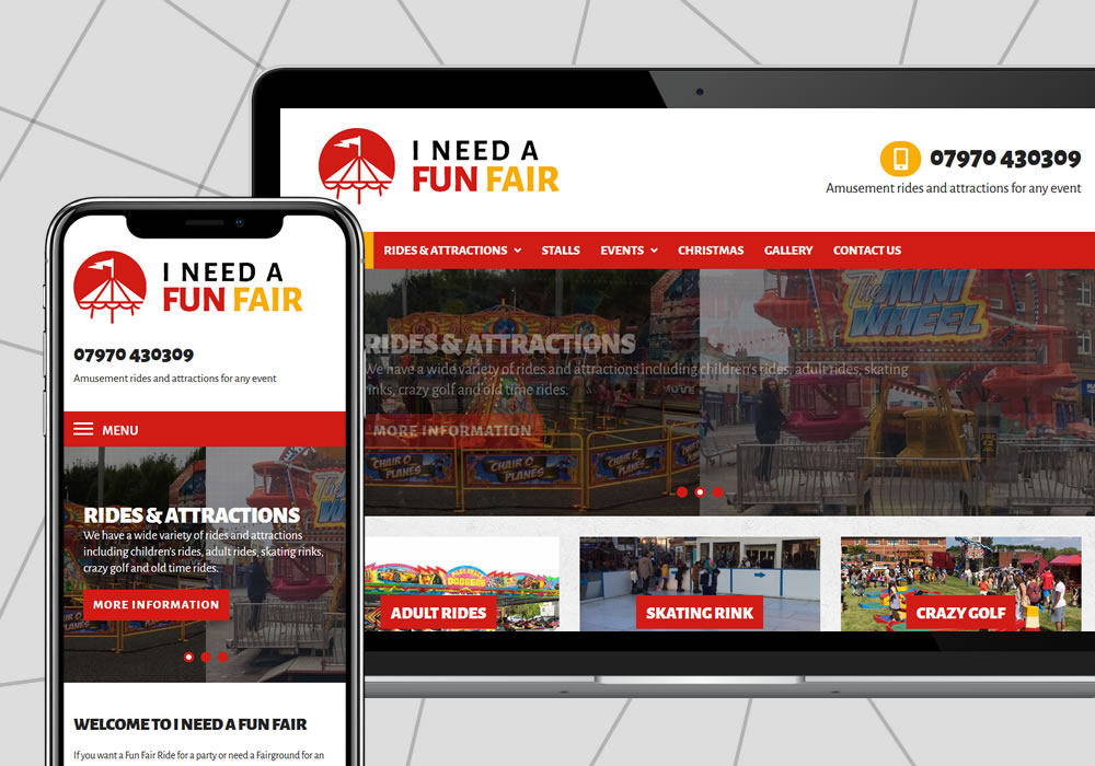 website design example i need a funfair