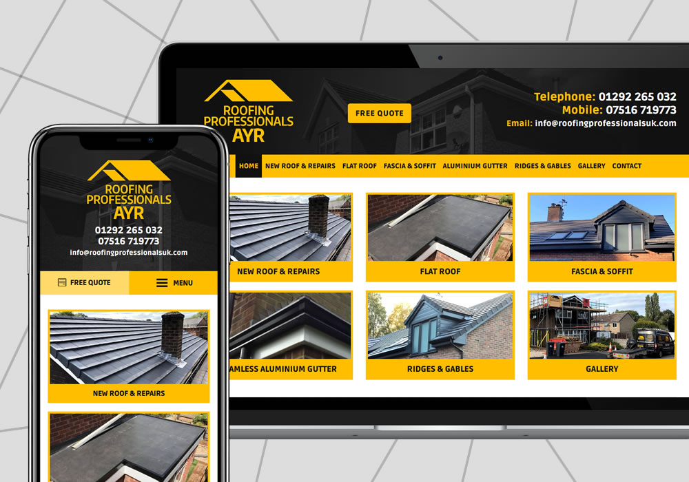 website design example roofing professionals ayr