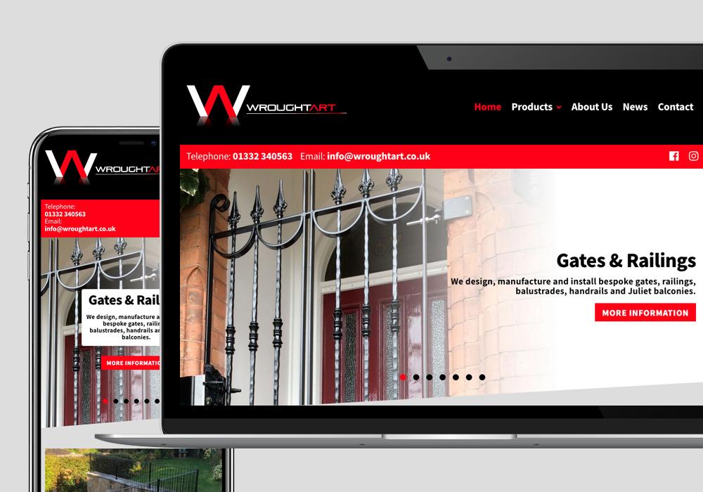 wordpress cms wrought art website