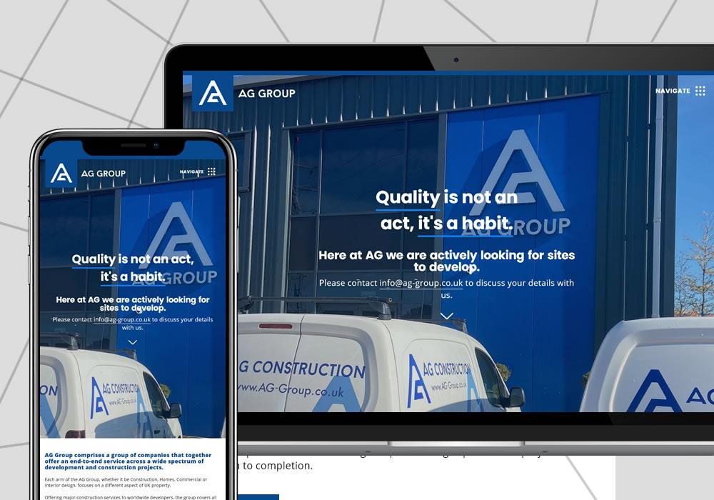 wordpress cms ag group website